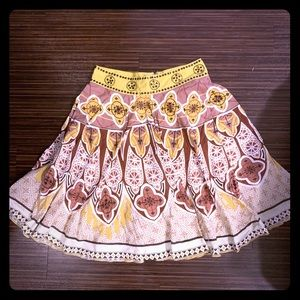 🌻Yellow and Brown Anthropologie Skirt🌻